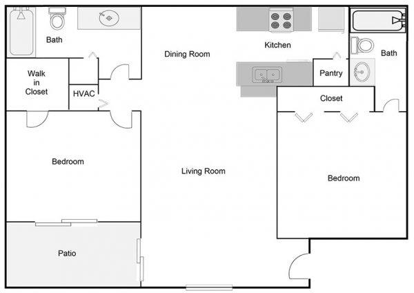 two-bedroom-two-bathroom-floor-plan
