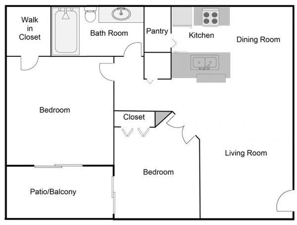 two-bedroom-one-bathroom-floor-plan