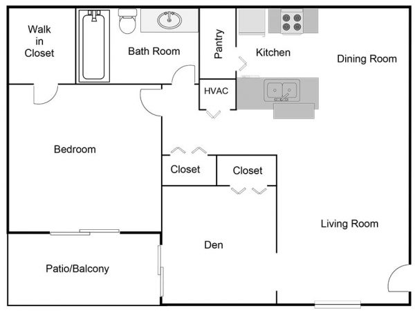 two-bedroom-one-bathroom-floor-plan