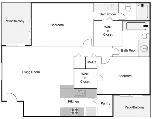 two-bedroom-two-bathroom-floor-plan